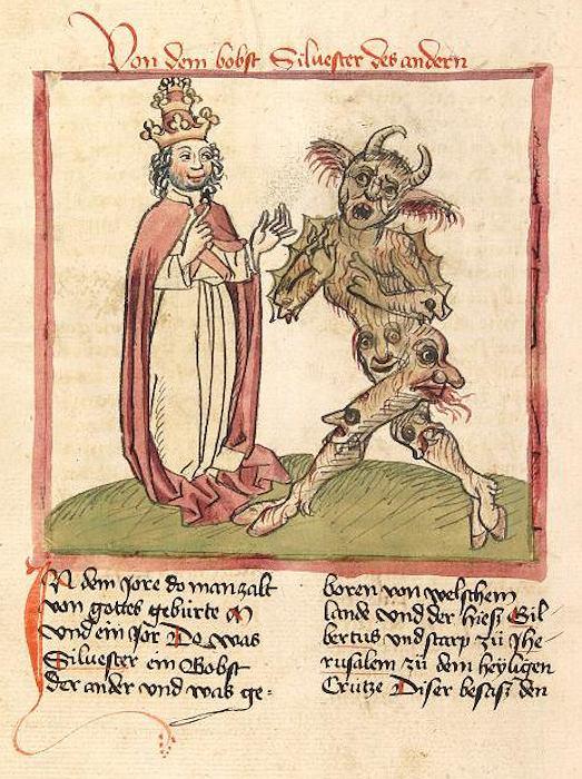 Papież Sylwester II nie wygląda na przestraszonego