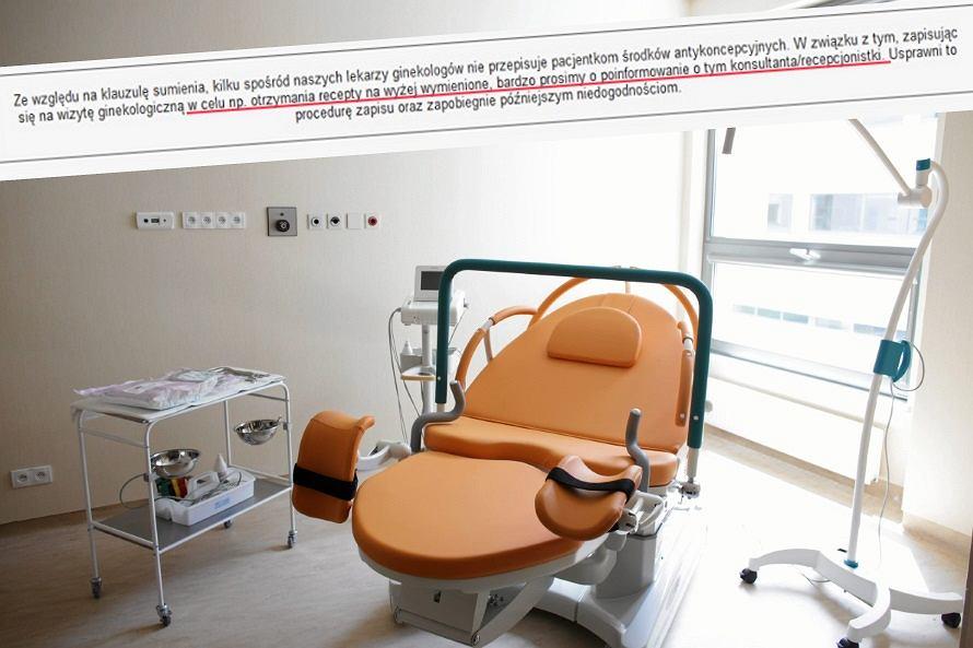 W tej klinice część ginekologów nie przepisze antykoncepcji