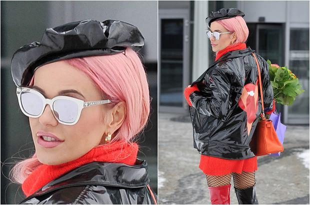 Zdjęcie numer 8 w galerii - Doda w nowej fryzurze i w lateksie. Różowe włosy to jeszcze nic. Spójrzcie na buty. Nawet jak na nią są BARDZO ODWAŻNE