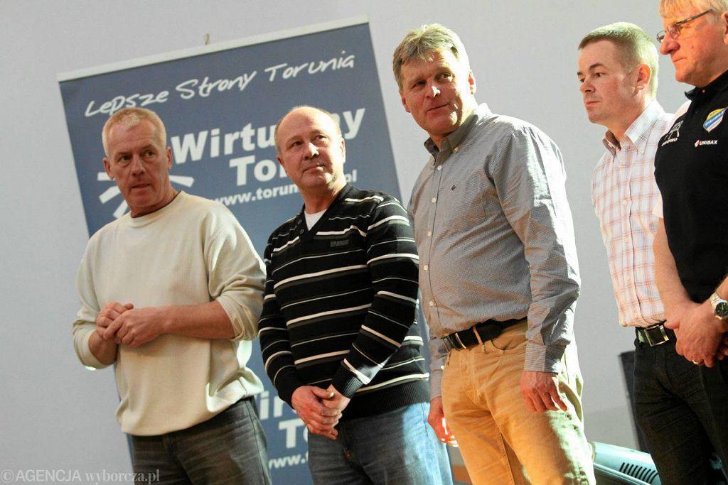 Byłe gwiazdy Apatora: od lewej - Wojciech Żabiałowicz, Eugeniusz Miastkowski, Stanisław Miedziński, Robert Sawina, Jan Ząbik