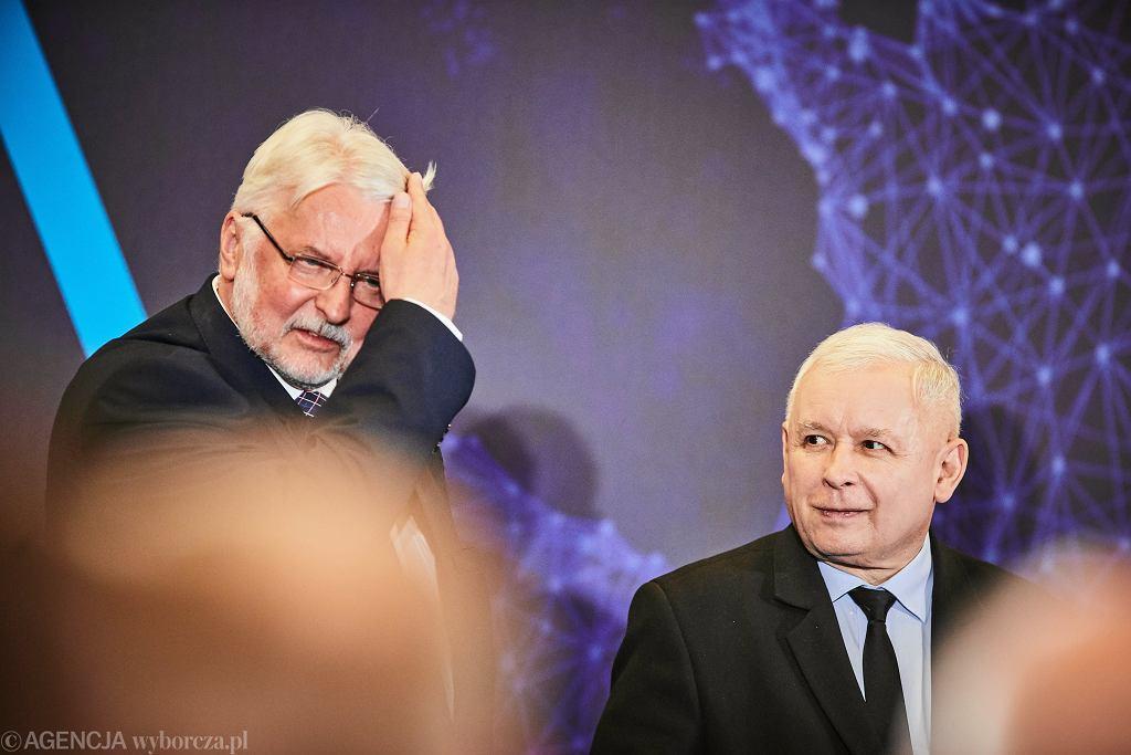 Witold Waszczykowski i Jarosław Kaczyński, zdjęcie z 2019 r.