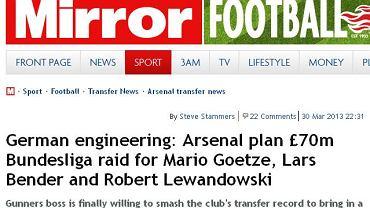 Screen z dziennika ''Sunday Mirror''