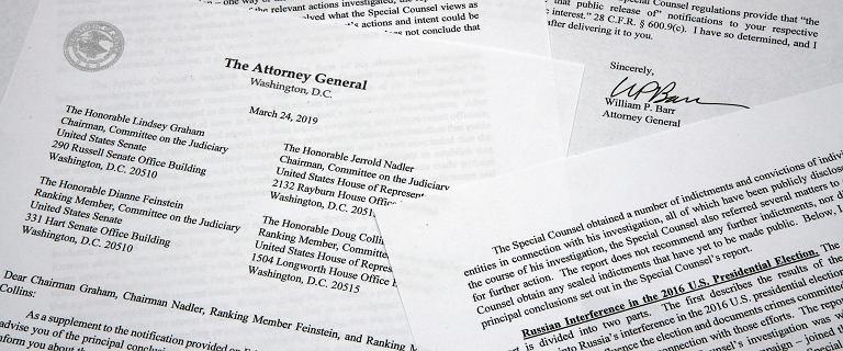 Raport Muellera. Nie ma dowodów na współpracę Trumpa z Rosjanami