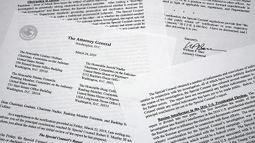 Pismo z podsumowaniem raportu Roberta Muellera