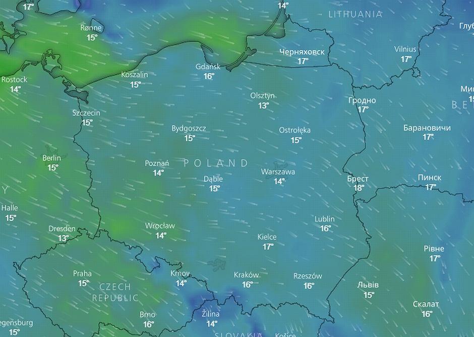W sobotę ochłodzi się w całej Polsce
