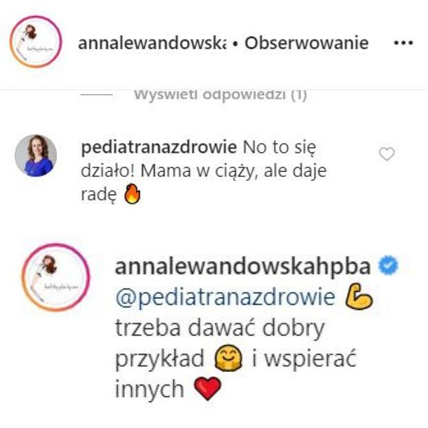 Anna Lewandowska - trening w ciąży