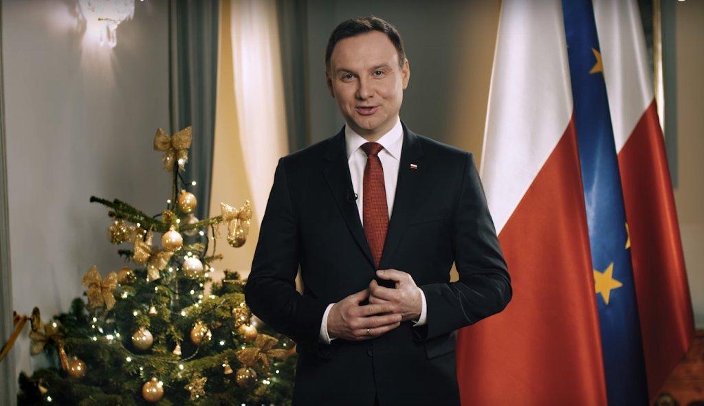 Prezydent Andrzej Duda wygłasza noworoczne orędzie