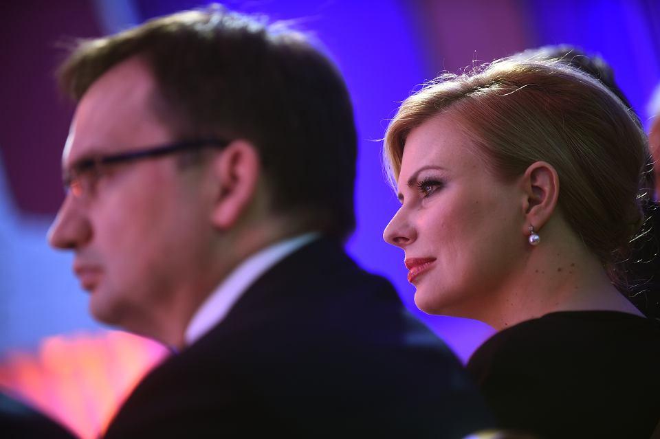 Minister sprawiedliwości Zbigniew Ziobro z  żoną Patrycją Kotecką Ziobro