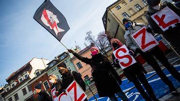 Strajk Kobiet w Krakowie.