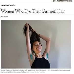 Women Who Dye Their (Armpit) Hair