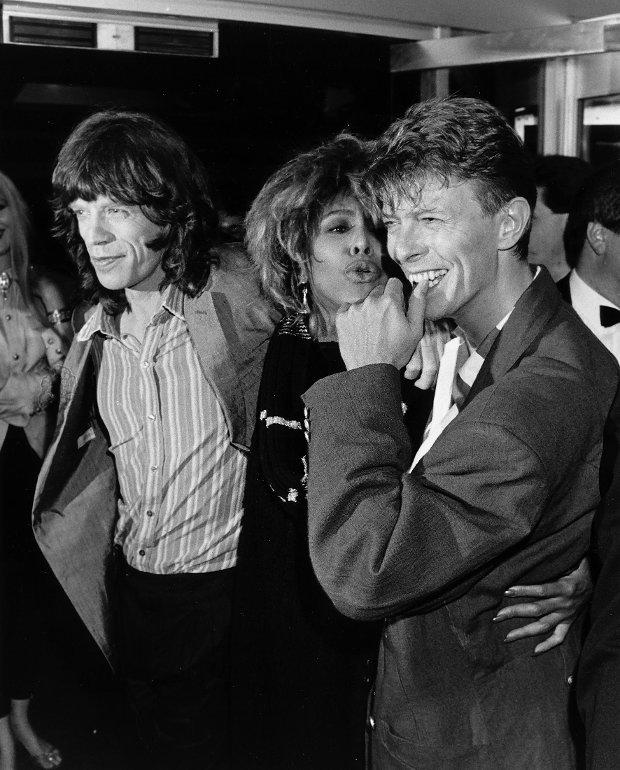 Mick Jagger, Tina Turner i David Bowie