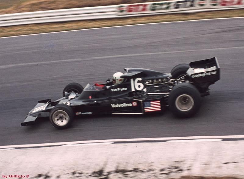 Tom Pryce podczas Grand Prix Wielkiej Brytanii (1976 rok)