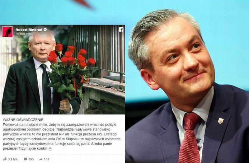 Robert Biedroń na Prima Aprilis
