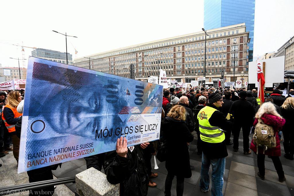 Manifestacja Frankowiczow
