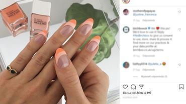 Paznokcie Slanted French Manicure