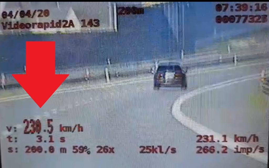 SUV-em jechał 230 km/h. Złapała go Grupa SPEED