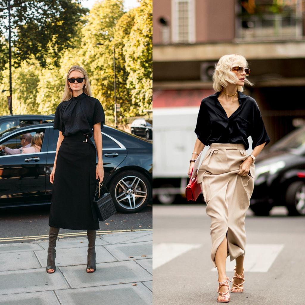 Spódnice midi z wysokim stanem - moda 2020
