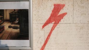 Symbol błyskawicy ze Strajku Kobiet (zdjęcie ilustracyjne)