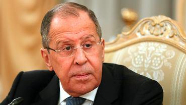 Sergiej Ławrow. szef rosyjskiego MSZ