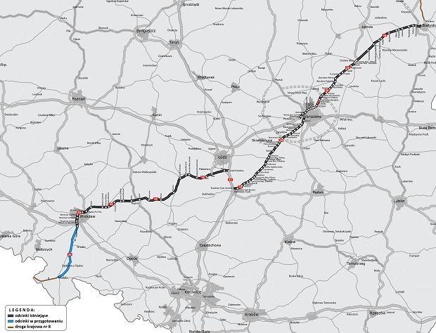 Aktualna mapa S8