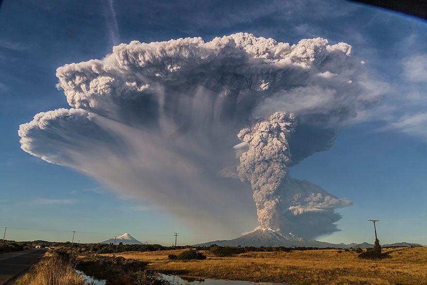 Erupcja wulkanu w Chile