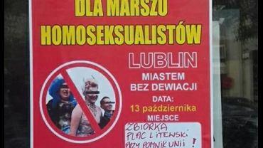 W Lublinie pojawiły się homofobiczne plakaty z logiem miasta