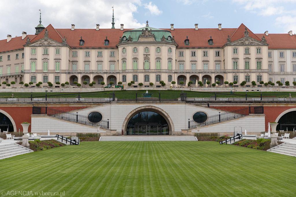 Zamek Królewski w Warszawie widziany z Ogrodu Dolnego.