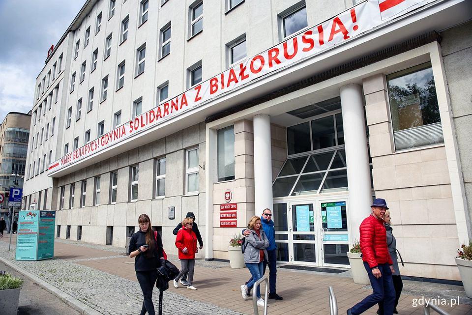 Gdynia solidaryzuje się z prześladowanymi Białorusinami