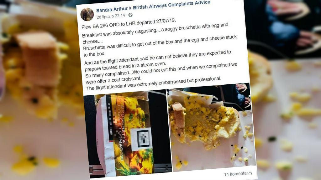 Pasażerka oburzyła się na widok jedzenia w samolocie