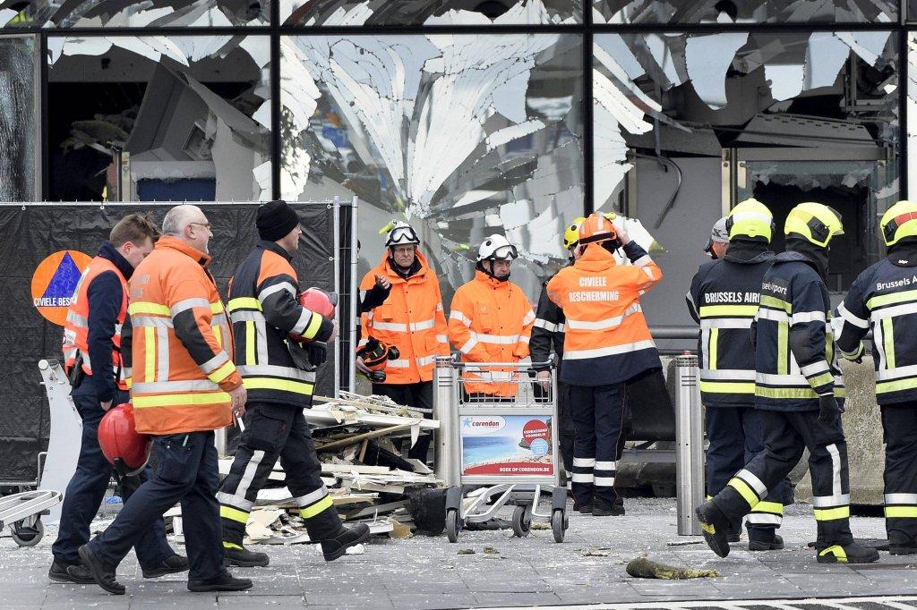 Terminal zniszczony po zamachach