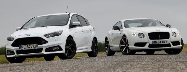 Ford Focus ST TDCi vs. Bentley Continental GT V8 S | Białe jest białe?
