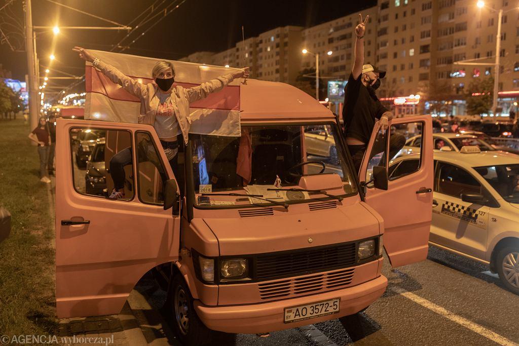 Demonstracje po sfałszowanych wyborach prezydenckich na Białorusi. Mińsk, 9 sierpnia 2020