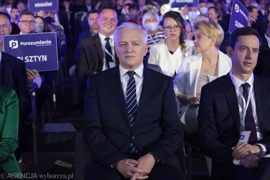 27.06.2021, Warszawa, Jarosław Gowin na kongresie Porozumienia