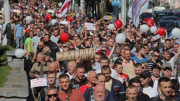 Strajk pracowników w Mińsku (zdj. ilustracyjne)