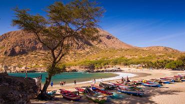 Plaża na Tarrafalr, wyspa Sotavento, Republika Zielonego Przylądka