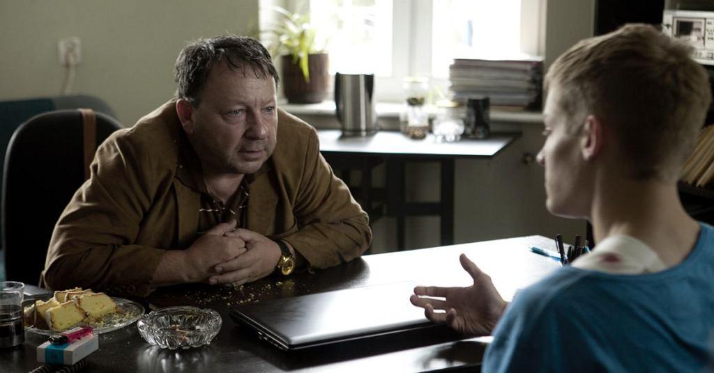 Zbigniew Zamachowski na planie filmu