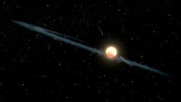 Wizja artystyczna gwiazdy KIC 8462852 znanej również jako  Boyajian's Star lub Tabby's Star