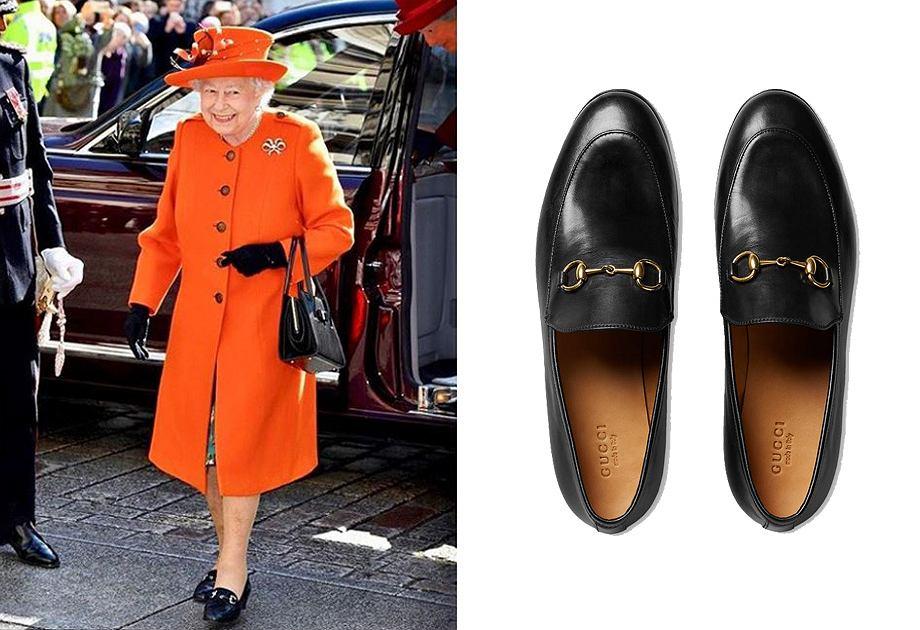 Królowa Elżbieta II w mokasynach Gucci