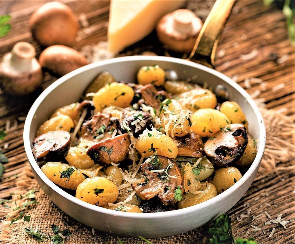 Gnocchi z grzybami i gorgonzolą