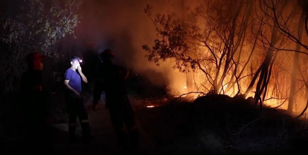 Pożar na wyspie Rodos w Grecji. Turysta: Widzieliśmy z okna hotelu, jak pożar zaczął się rozwijać