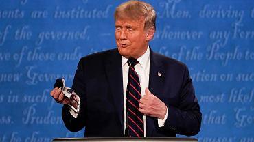 Donald Trump podczas debaty mówił o maseczkach