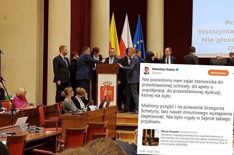 Sebastian Kaleta oburzony zachowanie PO na sesji Rady Miasta. Ludzie przypomnieli mu, że PiS robi to samo
