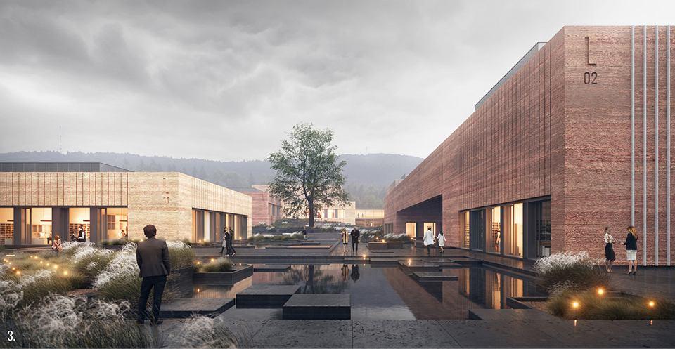 Zwycięska koncepcja laboratorium GUM w Kielcach autorstwa BDM Architekci (Warszawa)