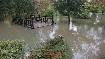 Zalany Park Brochowski po ulewnych deszczach, 14 października 2020