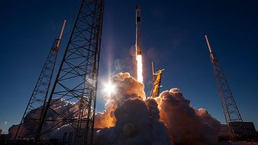 Start rakiety Falcon 9 firmy SpaceX
