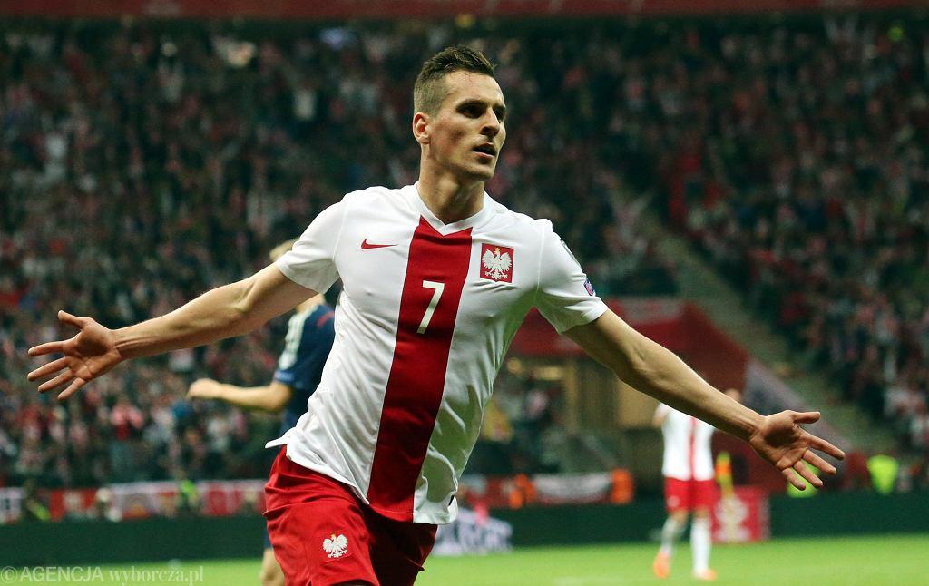 Arkadiusz Milik w barwach reprezentacji Polski