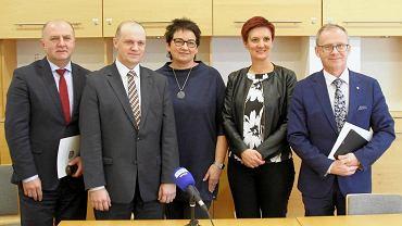 Od lewej: Andrzej Buła, Marek Witek, Monika Jurek, Agnieszka Okupniak i Roman Kolek