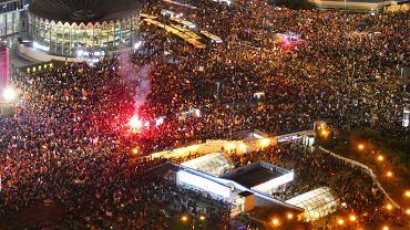 30.10.2020 r., Warszawa, Strajk Kobiet. Marsz na Warszawę - 8. dzień protestów przeciwko zaostrzeniu prawa aborcyjnego po wyroku Trybunału Konstytucyjnego