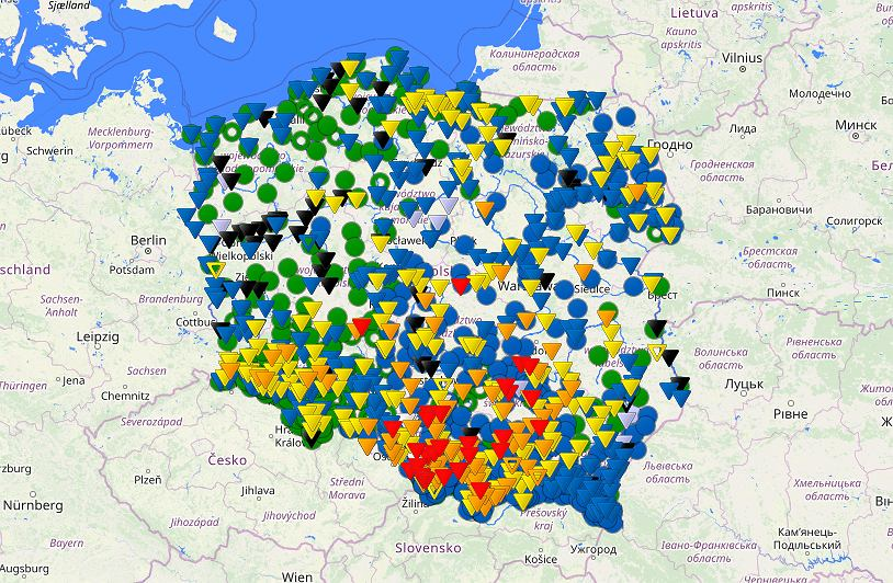 Sytuacja hydrologiczna na polskich rzekach (fot. IMGW)