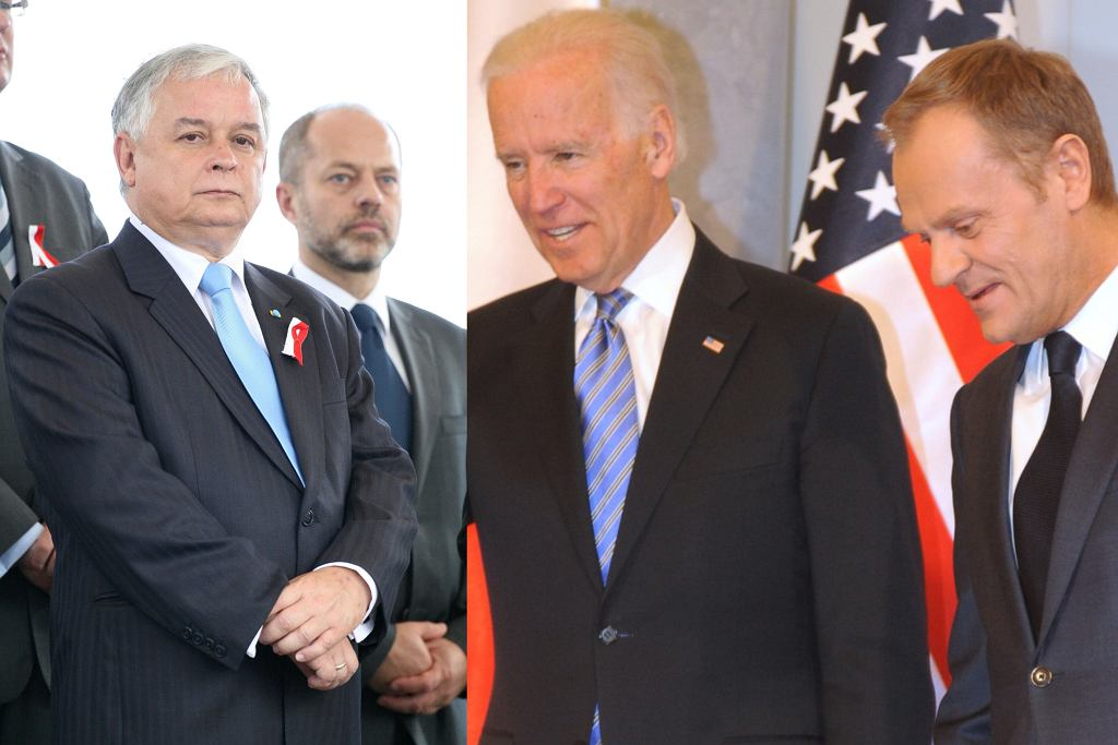 Lech Kaczyński, Donald Trump, Joe Biden